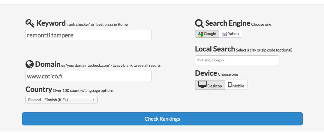 Näin tarkastat kotisivujen todellisen Google-sijoituksen
