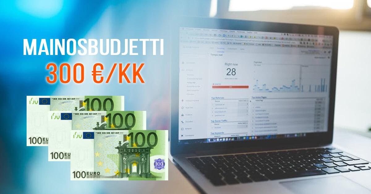 Markkinointia 300 euron mainosbudjetilla