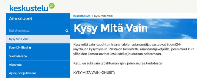 Suomi24 keskustelusivu